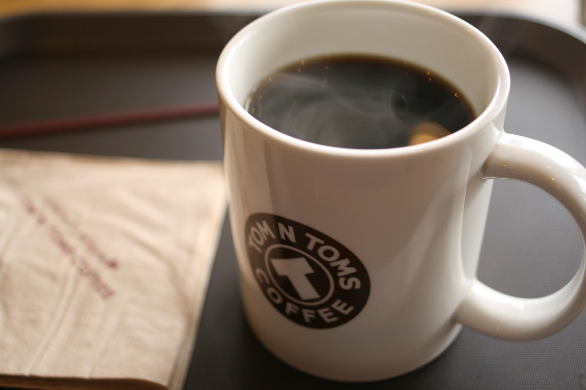 ホットコーヒーやや薄い
